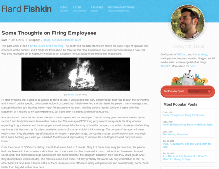 Some Thoughts on Firing Employees